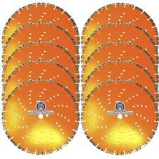 "10Pc 14"" Concrete Diamond Blade w/ Cooling Holes Faster Cut Longer Life Wet/Dry"