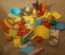 Lot of 56 Play Food & Plates Pretend Play Little Tykes Melissa & Doug