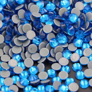 Glass Strass Crystal Hot Fix Rhinestones Iron On Flatback Clear Hotfix Stones
