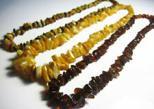3 - Genuine  Beautiful Baltic Amber Necklaces 58 g !!!