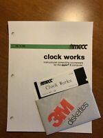 """Mecc Clock Works A168 for Apple II 5.25"""" 5.25 Disk with manual"""