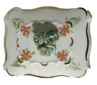 Vintage Precious Irish Dresden Handmade Porcelain Lace Trinket Box Ireland