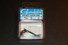 3 Pack Gamakatsu 226413 Double Hook EWG 226 Frog Hook Black Nickel Size 3/0