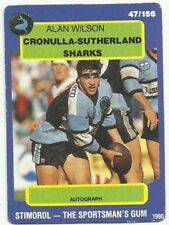 Scanlens Cronulla Sutherland Sharks Single NRL & Rugby League Trading Cards