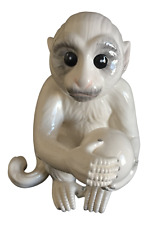 Porcelain Ceramic White Capuchin Monkey — As seen at Elvis Presley's Graceland!