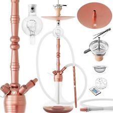 DILAW® MANYAK Shisha Set Aluminium Wasserpfeife Molassefänger Hookah Rose Gold