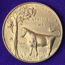 Vintage Taurus Astrology Lucky Day Number Medallion You Can Be Original
