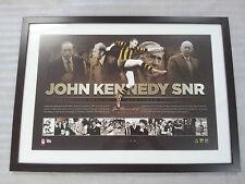 JOHN KENNEDY SNR HAWTHORN SIGNED/FRAMED LITHOGRAPH LT ED OF 50 OFFICIAL AFL