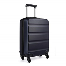 Kono Carry on Luggage Hard Shell ABS Cabin Suitcase 4 Wheeled Spinner 55cm 33L