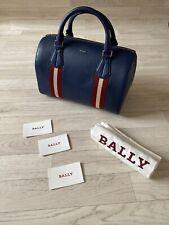 Bally Bag Leather Tote Bag Shopper BALLY Satchel Bucket Bag Blue Red NEW Alana