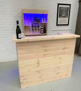 Personalised U Shape Home Bar Full Micro Pub- Pine Bar, Man Cave, Log Cabin