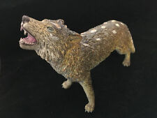 "Realistic 7 3/4"" Long, Wolf Statue Figurine Resin Howling Wild Life Zoo Animal"