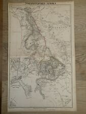 1854 NORTHEAST AFRICA  ANTIQUE HAND COLOURED ANTIQUE MAP BY CARL FLEMMING