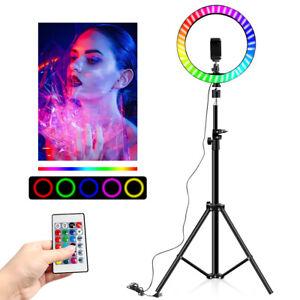 160cm LED Dimmbar Ringleuchte Ringlicht + Handy Stativ für Live YouTube Tik Tok