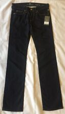 Ladies Dark Blue Malibu Rinse 7 For All Mankind Straight Leg Denim Jeans Size 27