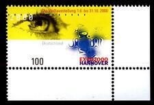 2089 ** - EXPO 2000, Hannover - Eckrand unten rechts - postfrisch