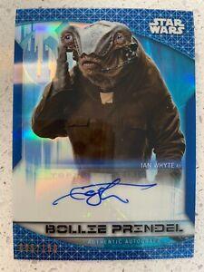 2020 Star Wars Chrome Autograph Blue Refractors Ian White as Bollie Prindel /150