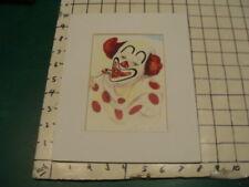 1980's print - Clown Art - Clown w lollypop w matting