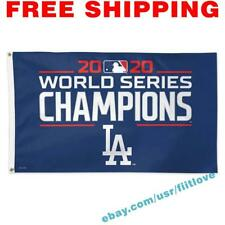 Los Angeles Dodgers 2020 MLB World Series Champions Deluxe Flag Banner 3x5 ft