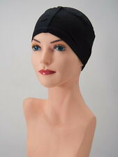 So Comfortable! BLACK Bamboo Viscose Chemo Cap Cancer Turban THE CASUAL SOFTIE
