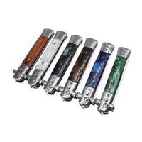 1 Pcs Automatique En Acier Inoxydable Peignes Pliable Couteau Brosses Tondeu a5x