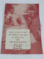 1947 Montgomery Ward Building Materials Booklet Home Improvement