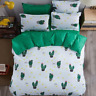 New Cactus Printing Green Bedding Set Duvet Cover+Sheet+Pillow Case Four-Piece