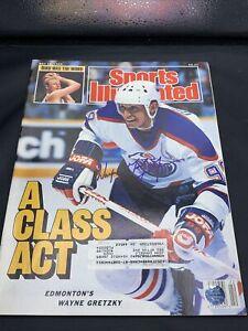 Wayne Gretzky Edmonton Oilers Signed 1988 Sports Illustrated Magazine w/coa