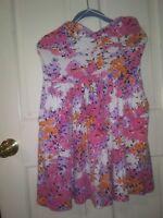 Aeropostale Large Floral Spaghetti Strap Dress