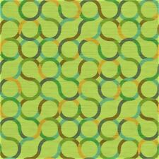 Arc com Spin lime green, aqua, orange, blue contemporary Vinyl Upholstery Fabric