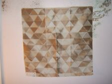"""Highland Court """"Embroidered Diamonds"""" geometric, 100% Silk remnant, color mocha"""