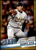 Barry Zito 2020 Topps Decade's Best Series 2 5x7 Gold #DB-89 /10 Athletics