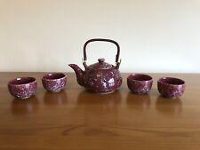 Ceramic Chinese Dark Red Teapot Set (New)