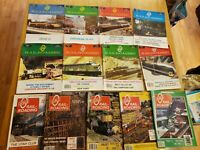 13 Issues 1984-1987 Huge Collection Lot O Scale Gauge Model Railroading Magazine