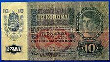 More details for romania 1919 ten (10) korona ( coroane) banknotes.                      ch13-137