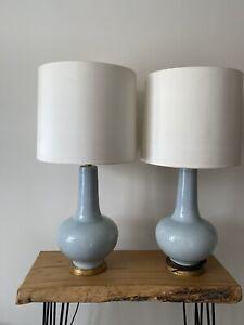 Porta Romana Sybil Duck Egg Blue Large Lamps (pair)
