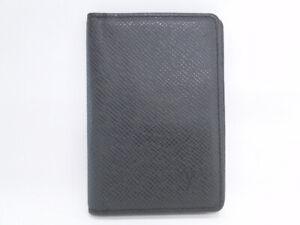 LOUIS VUITTON Organizer De Poche ID Card Case Taiga Black France 40170459400 K
