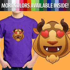 Beauty Beast Love Emoji Heart Eyes Disney Cartoon Unisex Kids Tee Youth T-Shirt