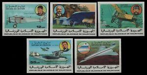 Mauretanien 1977 - Mi-Nr. 576-580 B ** - MNH - ungez. / imp - Luftfahrt