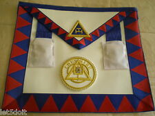 MASONIC REGALIA - CHAPTER PROVINCIAL LEATHER APRON SASH TAU FRINGE & APRON BADGE