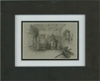 R.G. - Late 19th Century Pen and Ink Drawing, Waiting to Enter