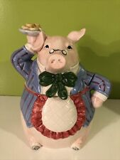 Vintage1983 Fitz And Floyd Bacon And Eggs Pig Cookie Jar