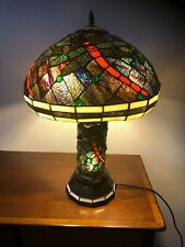 24'H Vintage Tiffany style  Dragonfly Table Lamp. 3 lights
