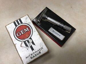 Vintage GEM Micromatic Razor in Box