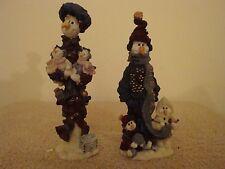 SET OF 2...BOYDS FOLKSTONE NANNY THE SNOWMOM & HELGA WITH ANNA 1E, WITH BOX!