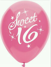 Sweet 16 Helium Quality Latex Balloons (12 inch) - 8 pack