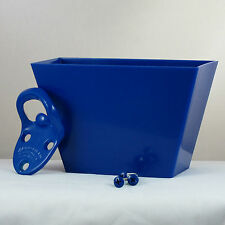 Starr Cavalier BLUE COMBO Wall Mount Bottle Opener and Blue Plastic Cap Catcher