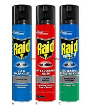 More details for raid fly wasp ant cockroach mosquito killer rapid action spray 300ml