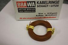 BRAWA KABELRING SCHALT-LITZE BRAUN 10 m 0,14QMM NEU! HB04