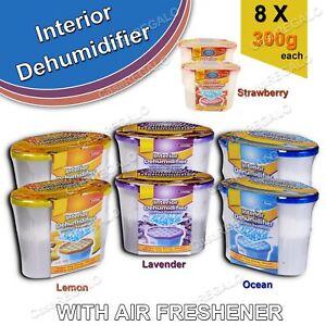 8pcs Dehumidifier Moisture Absorber Damp Dryer Closet Remover Air Freshener 300g